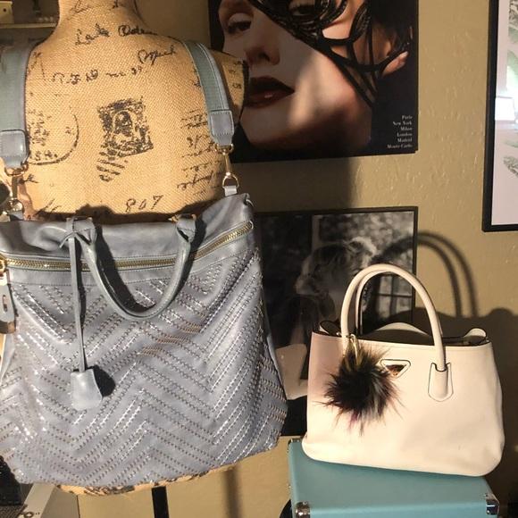 Urban Expressions Handbags - Vegan Blue Gray Urban Expressions Backpack bag